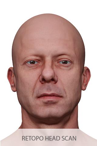 3D Retopologized Heads