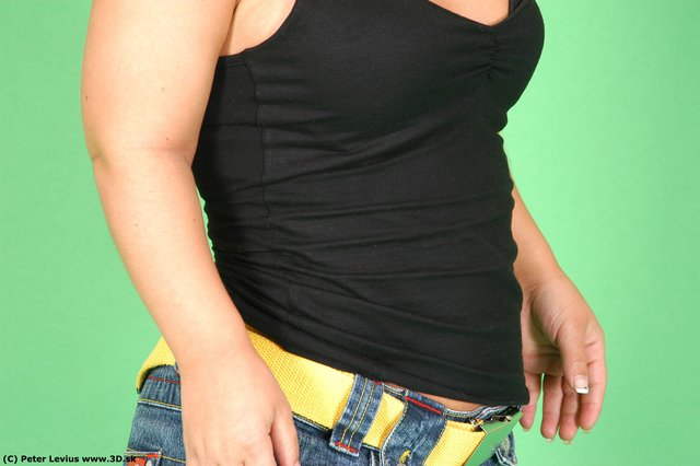 Belly Whole Body Woman Casual Average Studio photo references