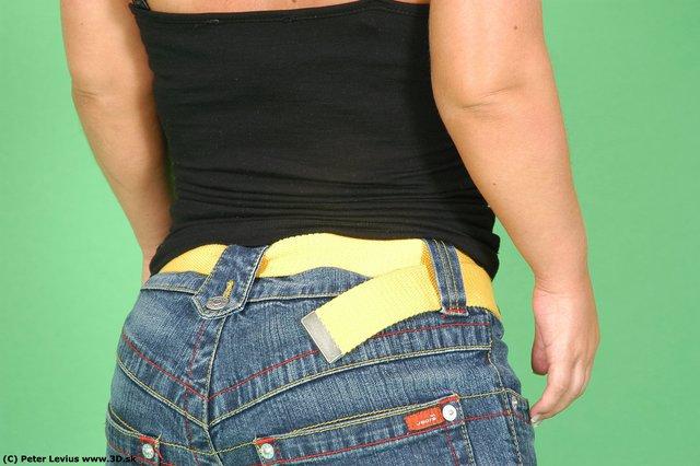 Whole Body Back Woman Casual Average Studio photo references