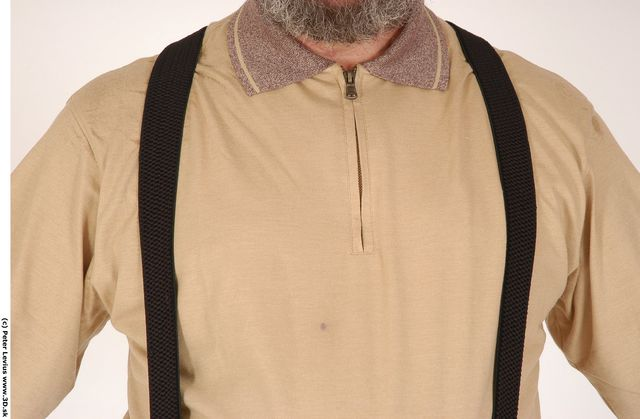 Chest Man White Formal Overweight