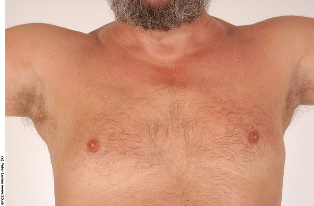 Chest Man White Nude Overweight