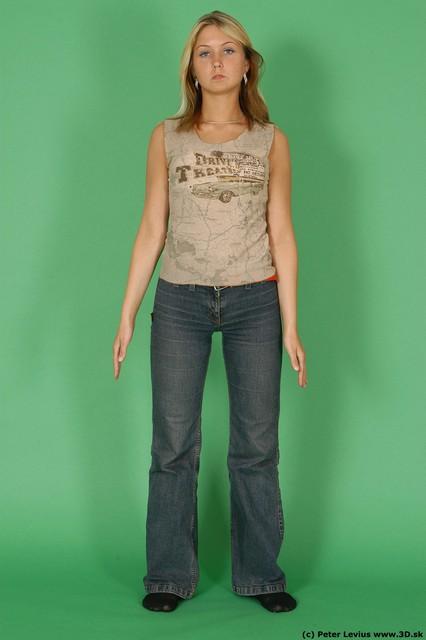 Whole Body Woman White Casual Slim