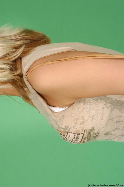 Chest Woman White Casual Slim