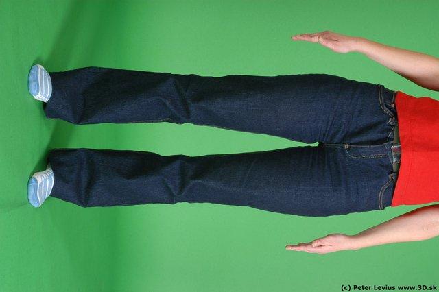 Leg Woman White Casual Average