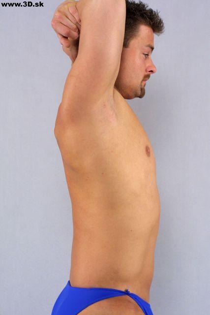 Upper Body Whole Body Man Artistic poses Underwear Average Studio photo references