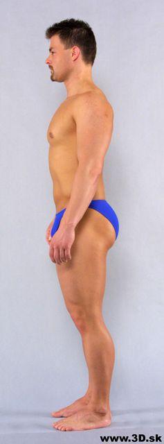 Whole Body Man Underwear Average Studio photo references