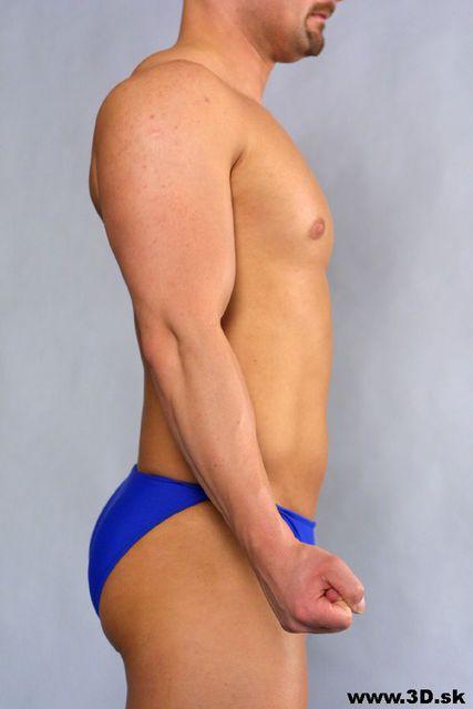 Arm Whole Body Man Underwear Average Studio photo references