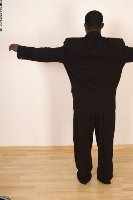 Hand Whole Body Man Hand pose Black Underwear Formal Average Studio photo references