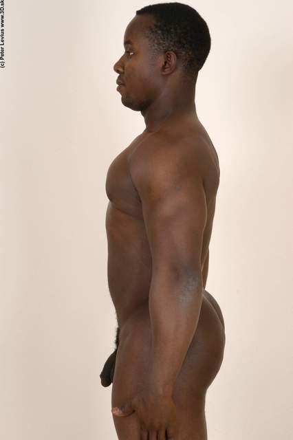 Arm Hand Whole Body Man Hand pose Black Nude Underwear Average Studio photo references