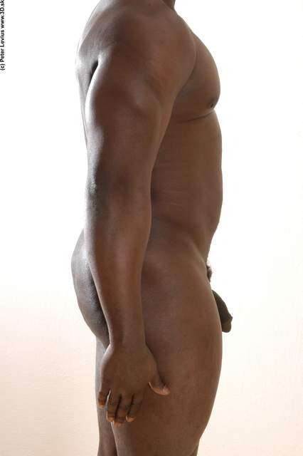 Arm Hand Whole Body Man Hand pose Animation references Black Nude Underwear Average Studio photo references