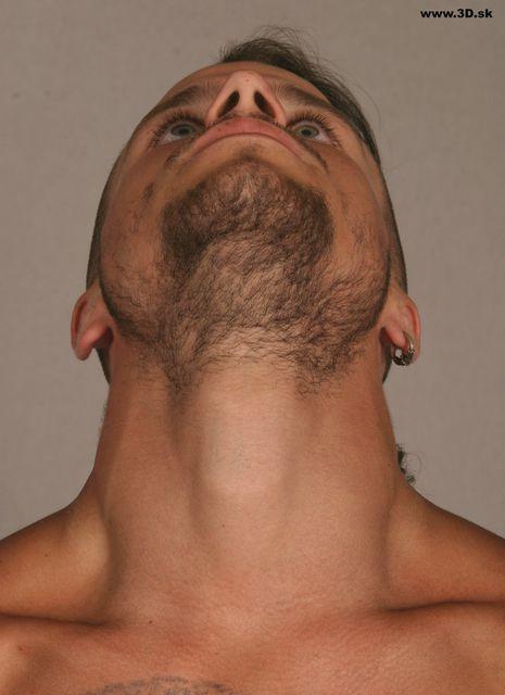 Neck Man Nude Athletic Studio photo references