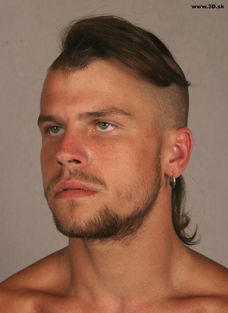 Head Man Nude Athletic Studio photo references