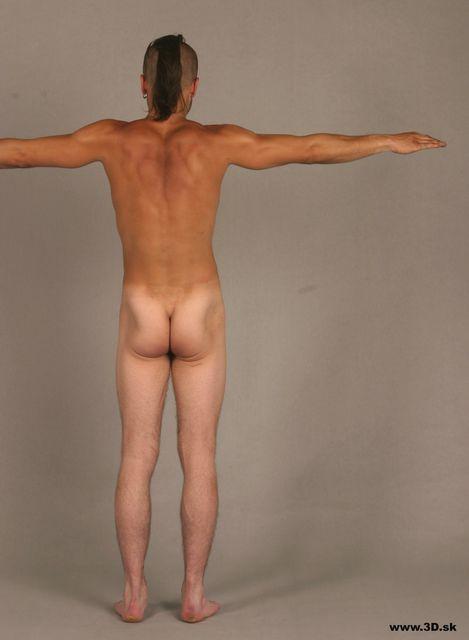 Whole Body Man Nude Athletic Studio photo references