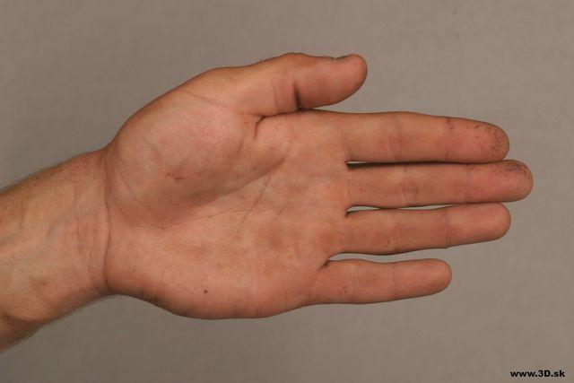 Hand Man Nude Athletic Studio photo references