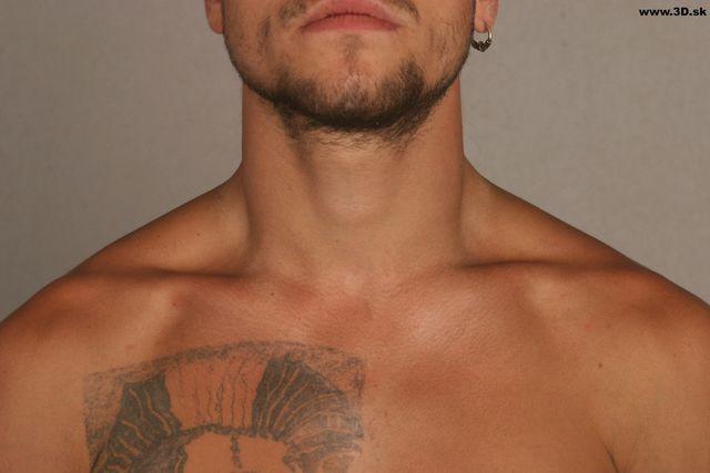 Neck Man Tattoo Nude Athletic Studio photo references