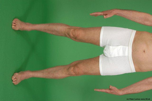 Leg Man White Underwear Average