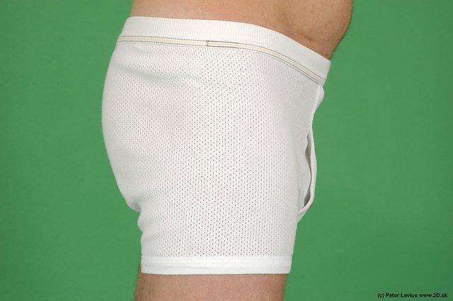 Hips Man White Underwear Average