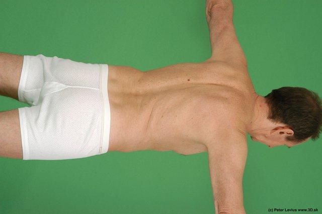 Upper Body Man White Underwear Average