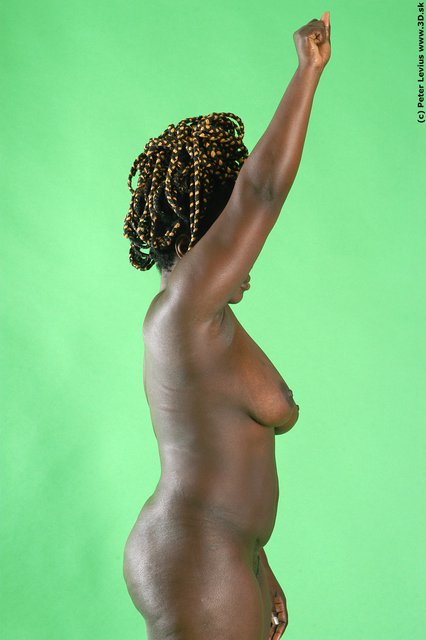 Upper Body Whole Body Woman Animation references Black Nude Chubby Studio photo references