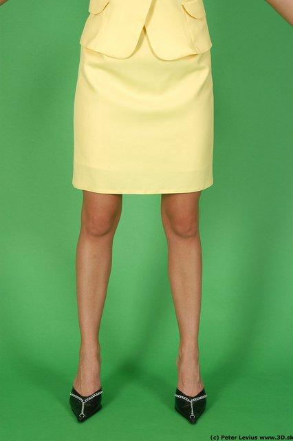 Leg Woman White Formal Slim