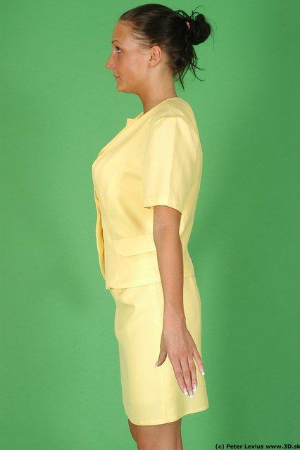 Upper Body Woman White Formal Slim