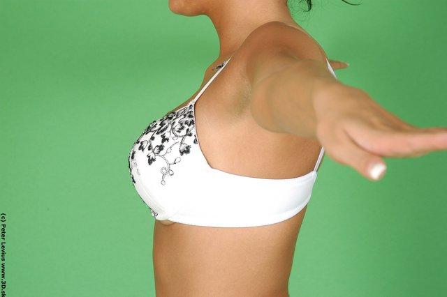 Chest Woman White Underwear Slim
