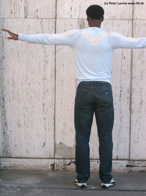 Whole Body Man T poses Casual Average Street photo references