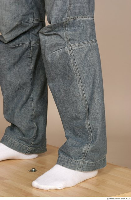 Calf Man White Casual Slim