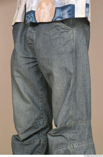 Thigh Man White Casual Slim