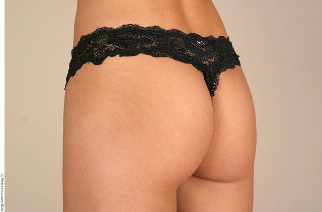 Bottom Woman White Underwear Chubby