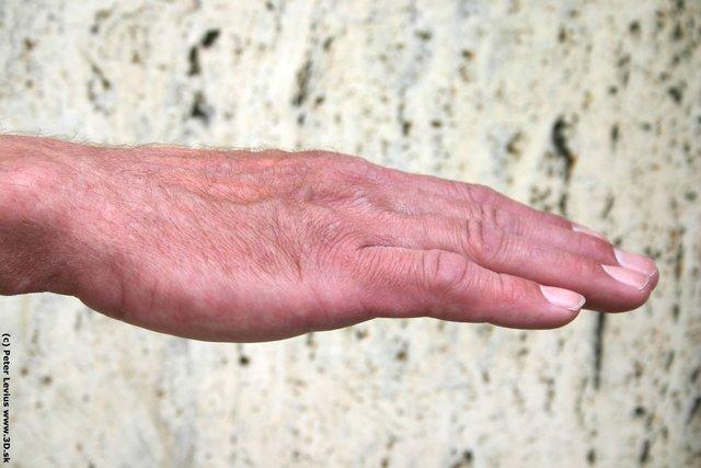 Hand Man White Nude Slim