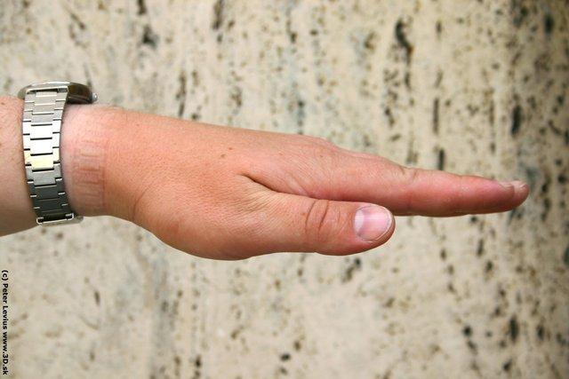 Hand Man White Average