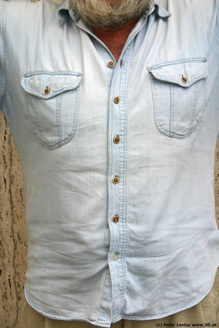 Chest Man White Casual Overweight