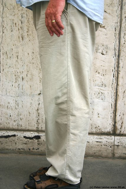Leg Man White Casual Overweight