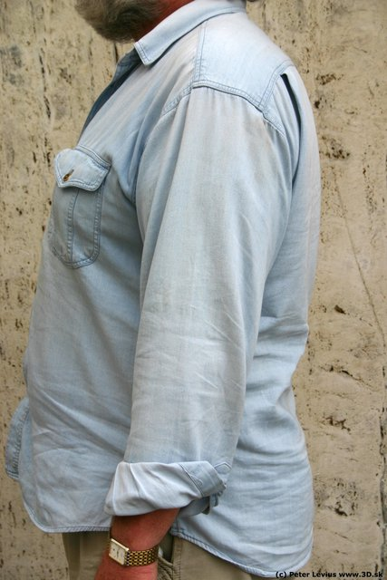 Arm Man White Casual Overweight
