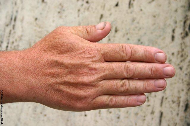 Hand Man White Overweight