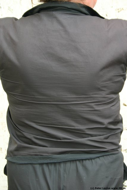 Back Woman White Casual Chubby
