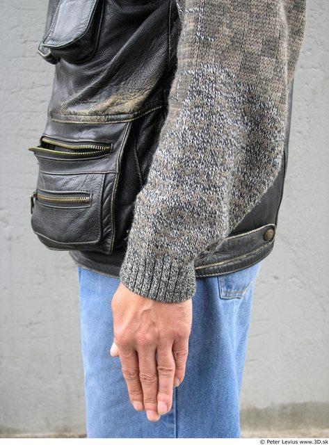 Forearm Whole Body Man Woman Casual Underwear Bra Slim Average Street photo references