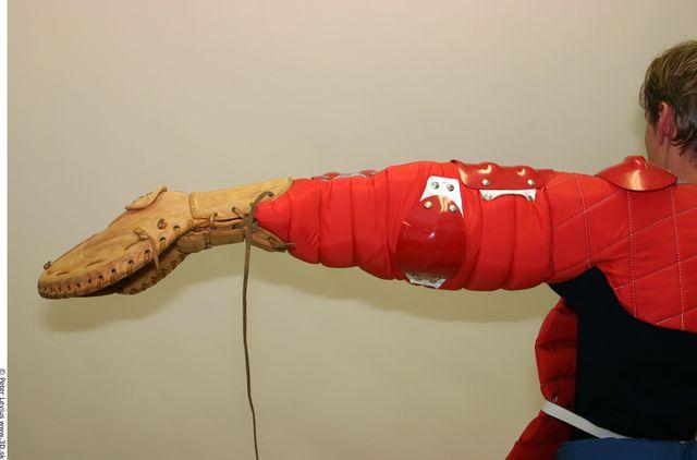 Arm Whole Body Man Woman Gloves Average Studio photo references