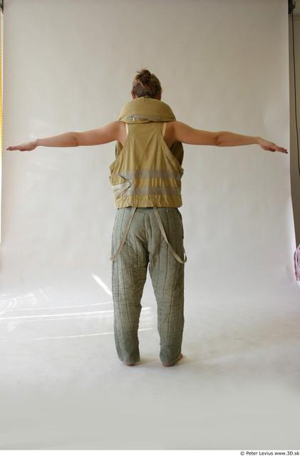 Whole Body Woman T poses Uniform Shoes Average Studio photo references