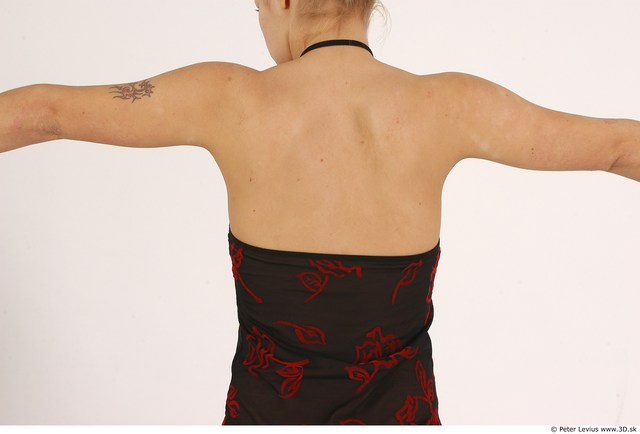 Whole Body Back Woman Casual Slim Studio photo references