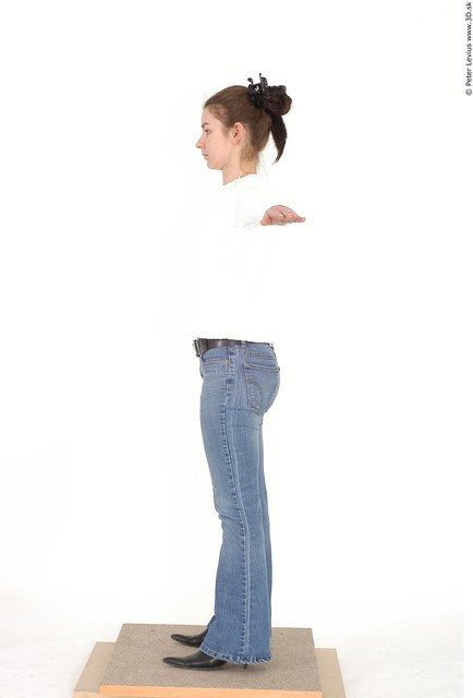 Whole Body Emotions Woman Artistic poses T poses Casual Chubby Studio photo references