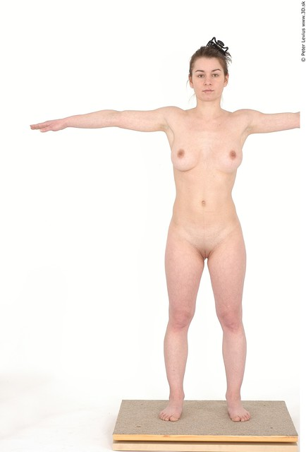 Whole Body Emotions Woman Artistic poses T poses Nude Chubby Studio photo references