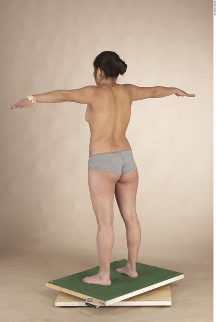 Whole Body Woman T poses Underwear Shoes Average Studio photo references