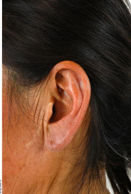 Ear Whole Body Woman Asian Slim Studio photo references