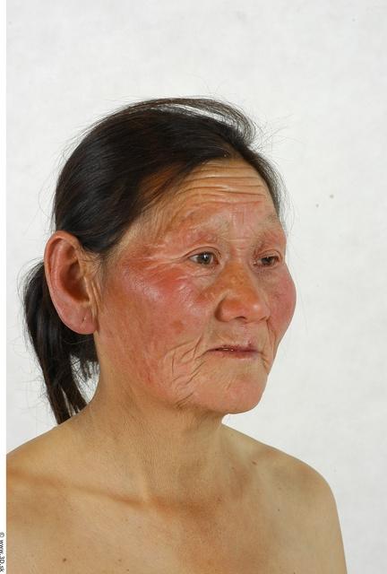 Whole Body Head Woman Asian Slim Studio photo references