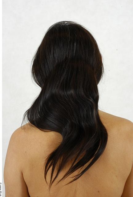 Whole Body Hair Woman Asian Slim Studio photo references