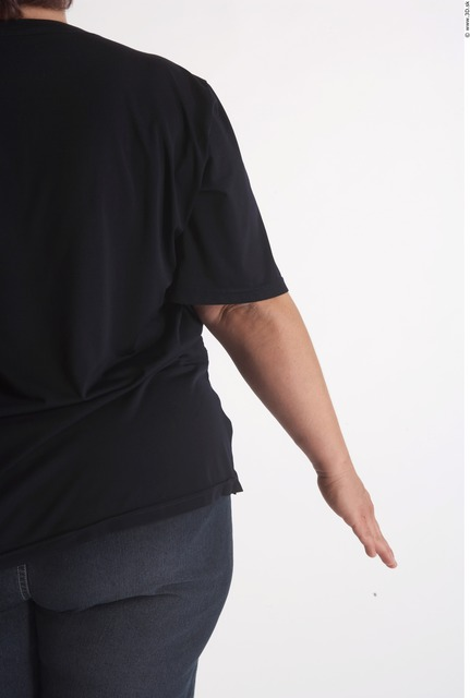 Arm Woman Animation references White Casual T shirt Overweight