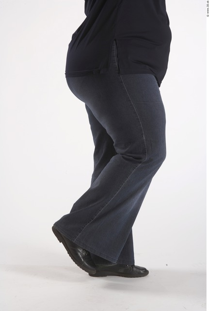 Leg Woman Animation references White Casual Jeans Overweight