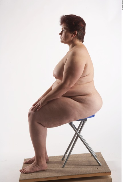 Whole Body Woman Artistic poses White Nude Overweight